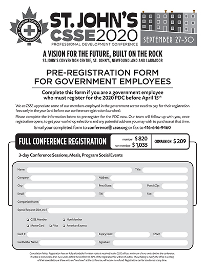Government Pre-Registration Form